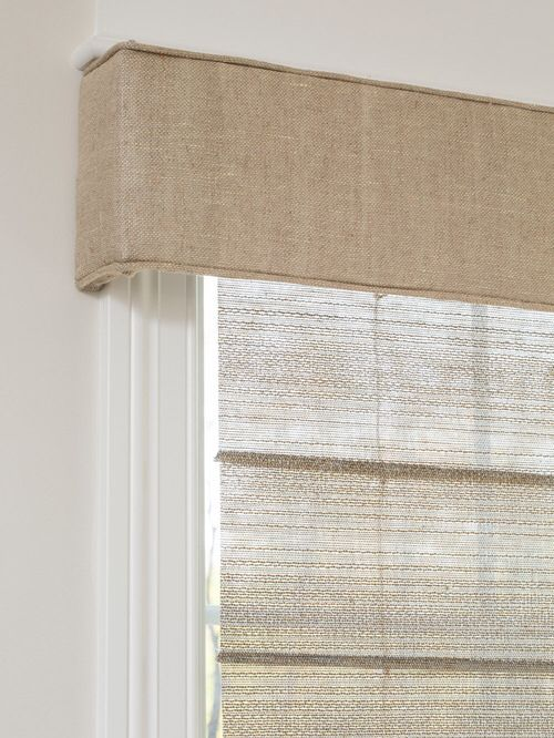 Burlap Covered Valance Burlap Window Treatments Valance Window