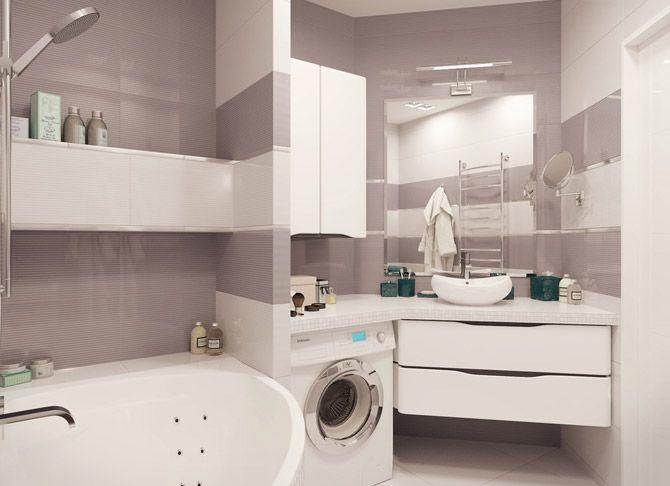 Интерьер ванной комнаты 4 кв.м без