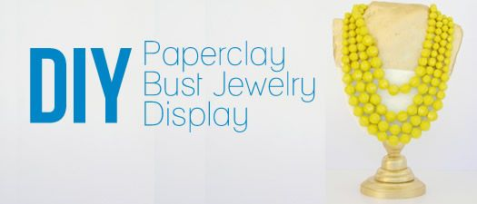 DIY Paperclay Bust jewerly display