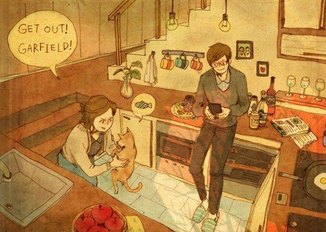 Liebe ist, wenn du seine kleinen Ärgernisse gerne in Kauf nimmst.