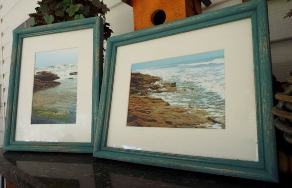 Framed Beach Photography, Shabby beach Decor, Beach Wall Art, Nature ...
