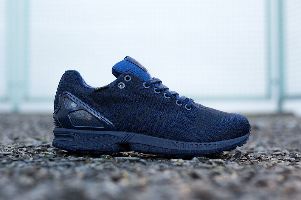 Adidas Zx Flux Weave Og Gore Tex Dark Blue Eu Kicks Sneaker Magazine Sneaker Magazine Adidas Zx Flux Sneakers