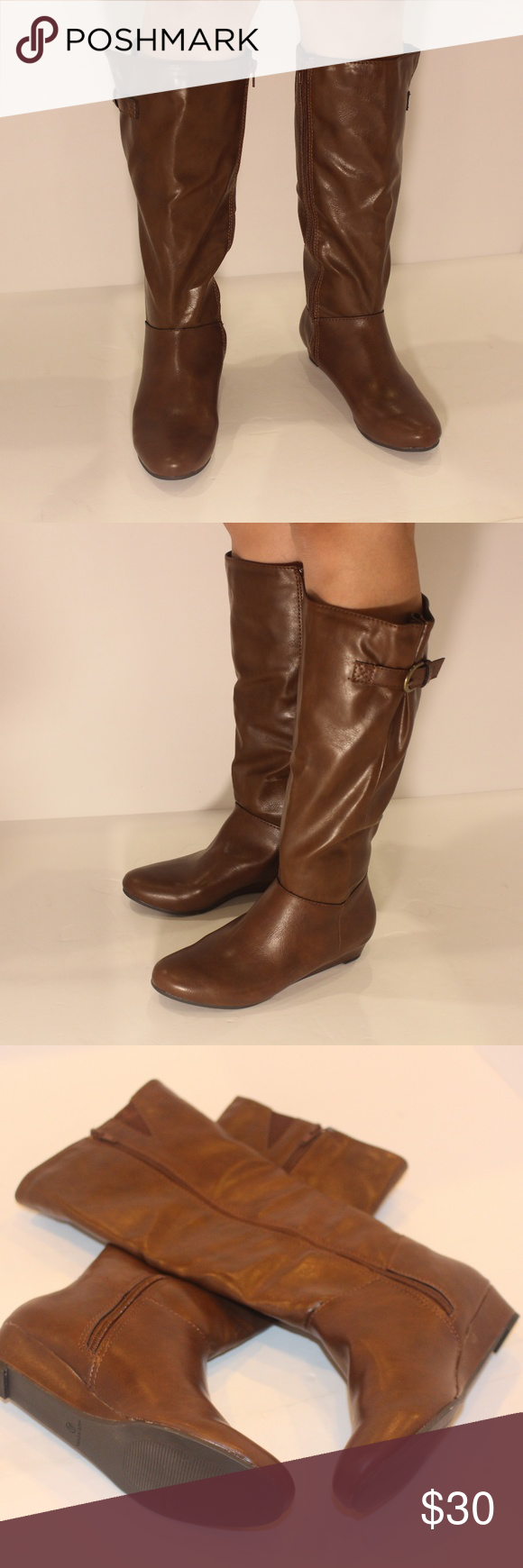 4805d667b283 STYLE  amp  CO RAINNE Women Mid Calf Boots COGNAC New in Box! Product  Details