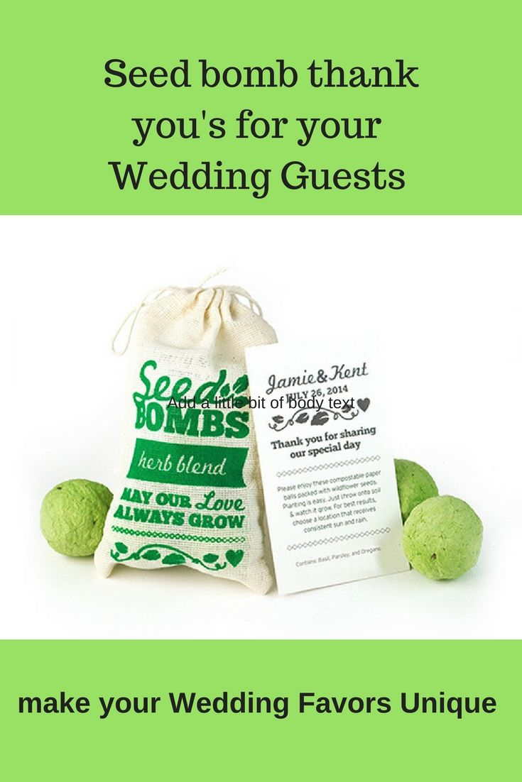 Herb seed bombs are the perfect eco-friendly wedding favors. Simply ...