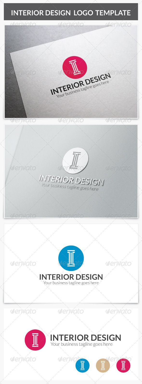 Interior Design Logo Photoshop PSD Architecture O Available Here