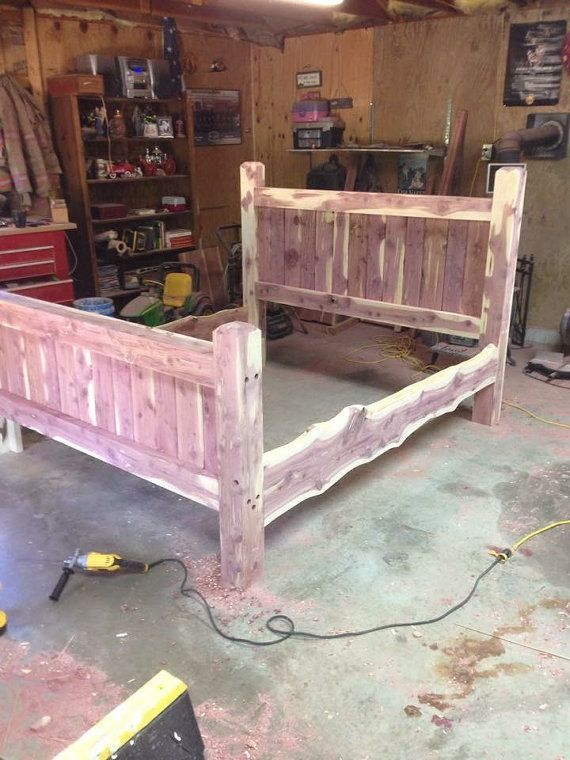 Bed Frame Cedar Bed Post Bed Custom Made Frame by TheTwistedStump ...