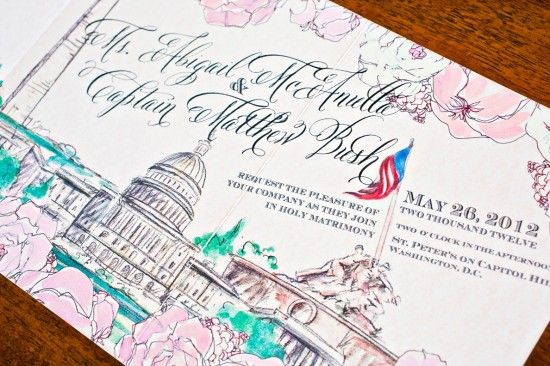 Washington DC wedding invitations - Momental Designs - Kurstin Roe Photography