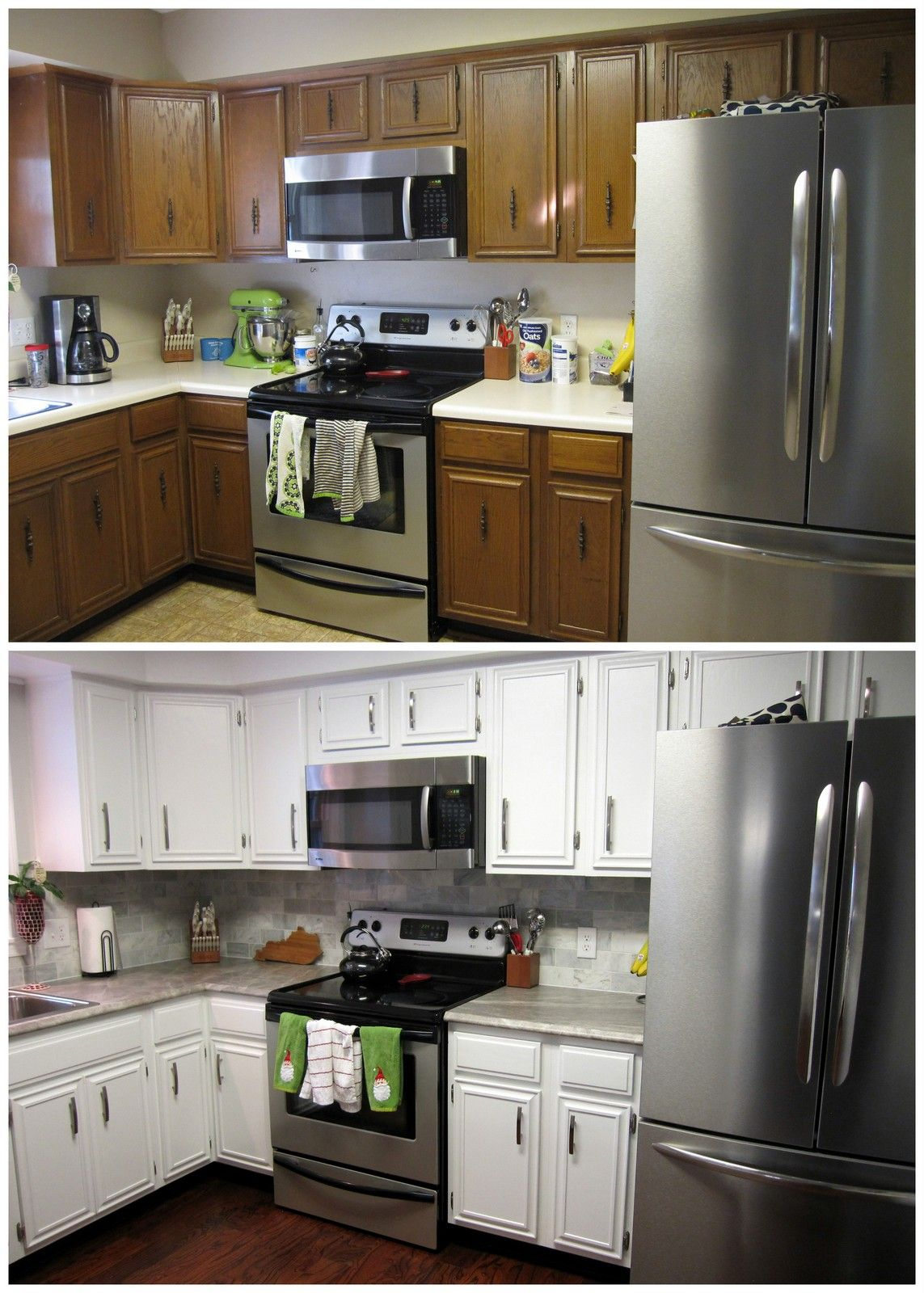 Scott and Allie painted kitchen cabinets review | DIY | Pinterest ...