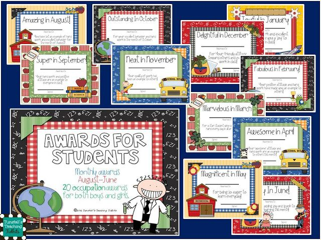 Classroom Prize Ideas : Adorable awards for students based on personality traits
