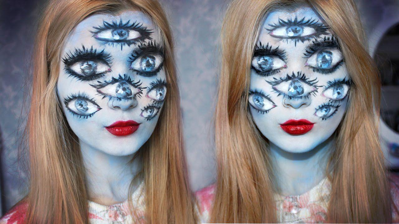 Tim Burton Inspired Halloween Makeup The girl with many