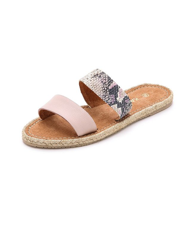 Slide these espadrilles on for a comfortable-yet-girly look.