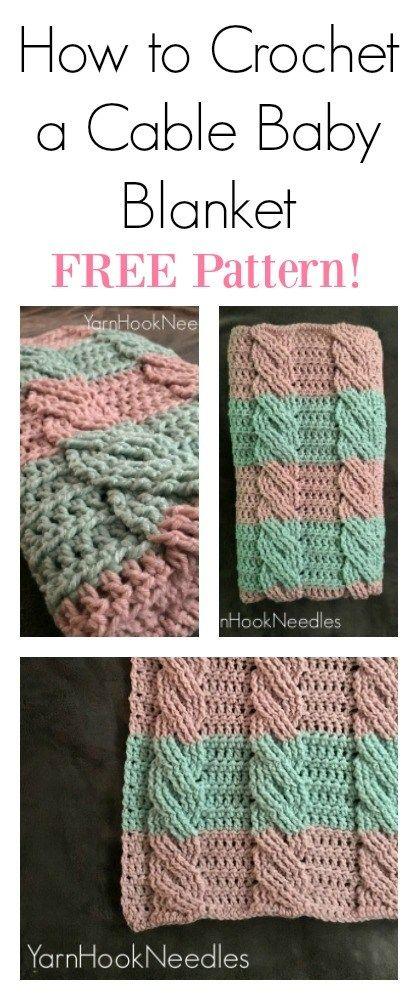 Crochet Cable Blanket with FREE Pattern! – YarnHookNeedles | Yarn ...