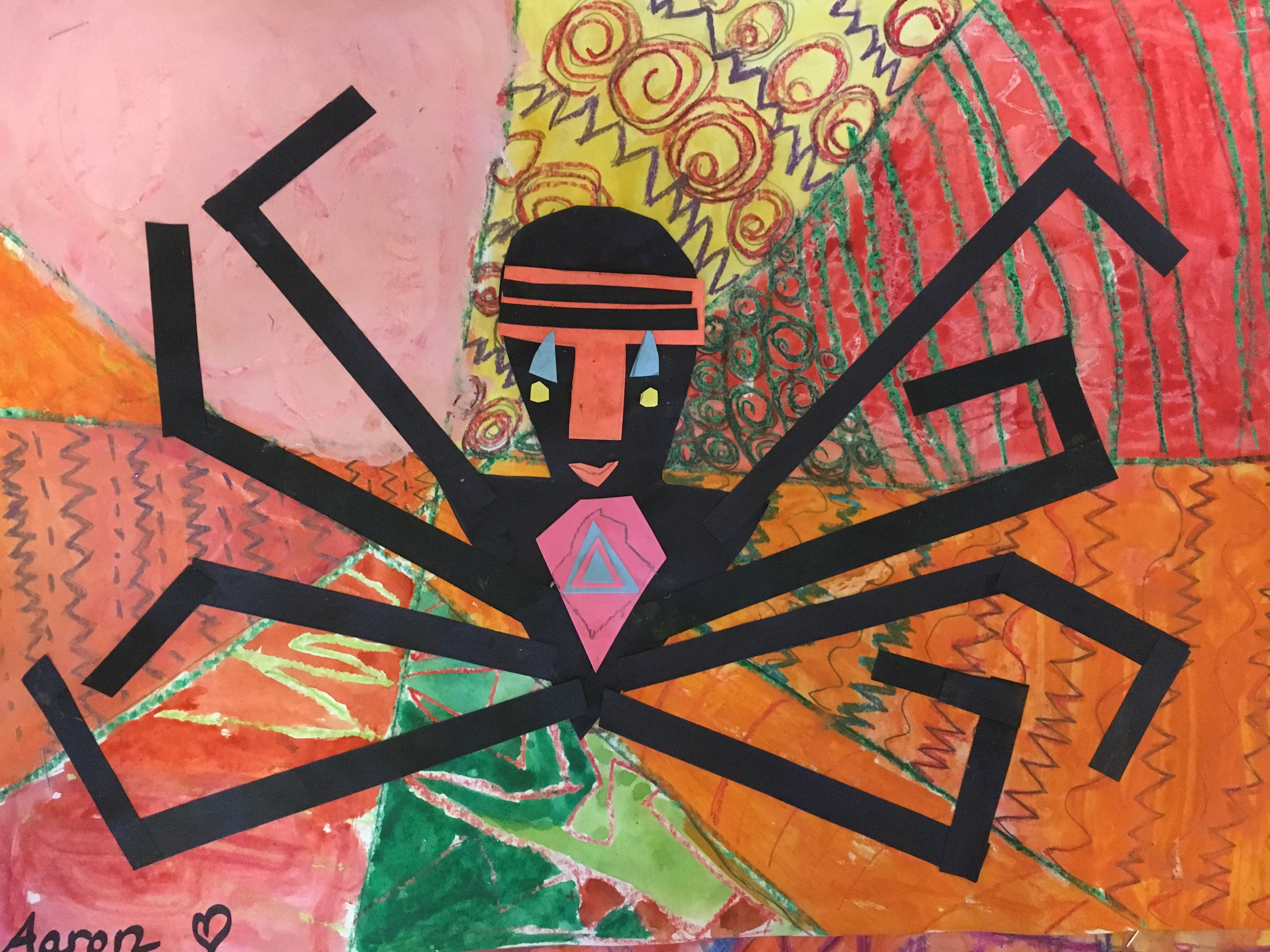 Anansi The Spider Collage With Images