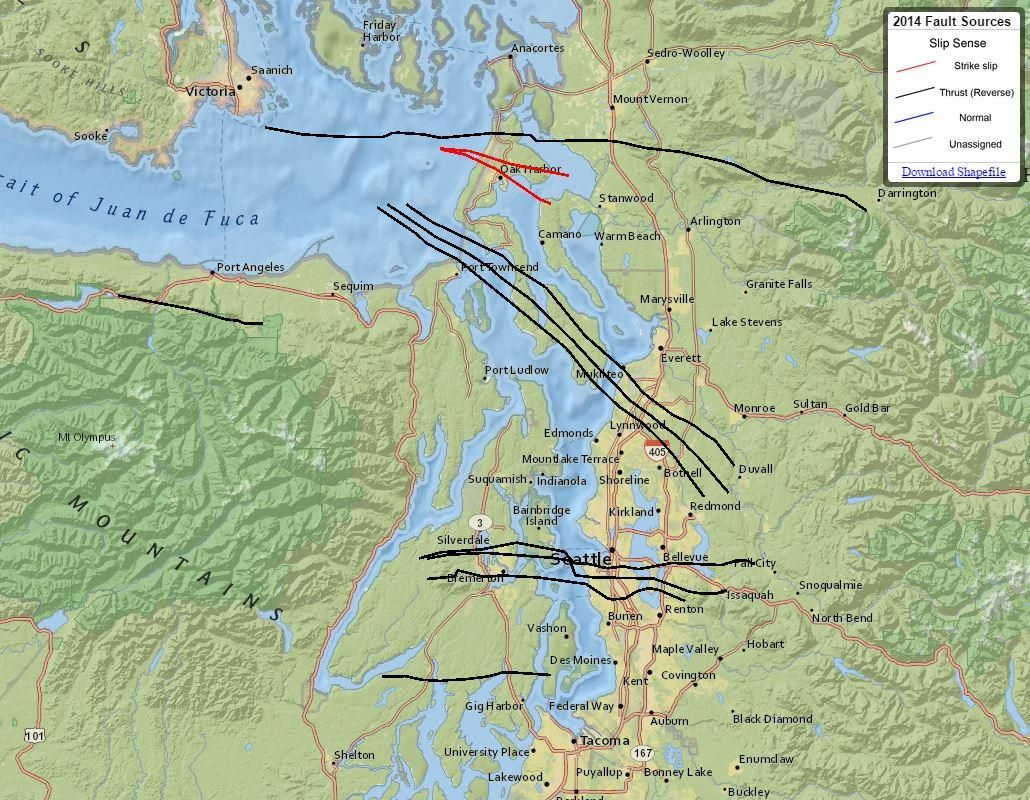 Seattle Fault Map Seattle's Faults: Maps That Highlight Our Shaky Ground | KUOW News