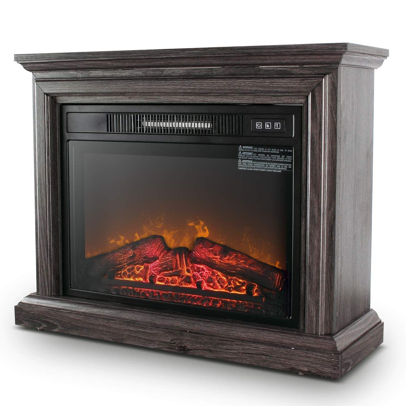Della 1400w Embedded Electric Fireplace Insert Freestanding Heater W Remote Control Glass Vie Freestanding Fireplace Stove Heater Fireplace Inserts