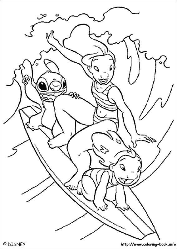 Lilo and Stitch coloring picture. Hawaiian roller coaster ride is ...