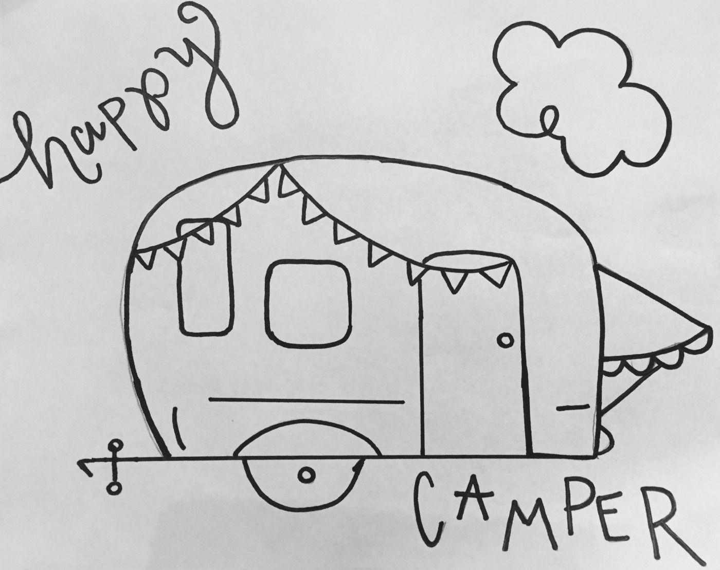 - FREE HAPPY CAMPER CHALKBOARD STENCIL & TUTORIAL Chalkboard