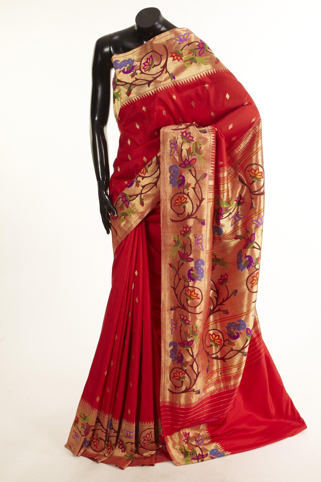 Saree images paithani product zoom image  classic saris  pinterest  indian dresses