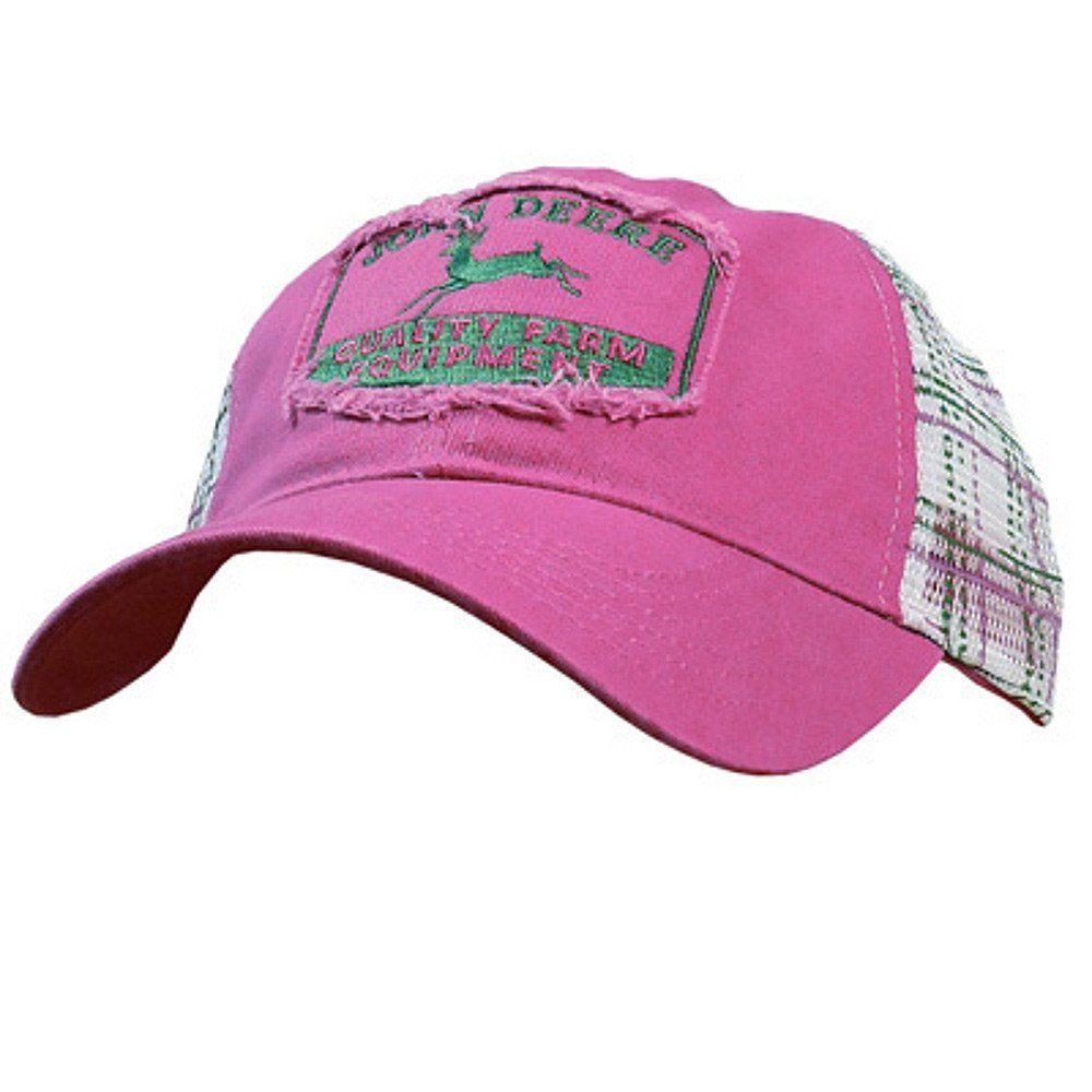 6df3f081b62bd Women s John Deere Vintage Distressed Plaid Hat Cap (Pink) -  www.greentoysandmore.com