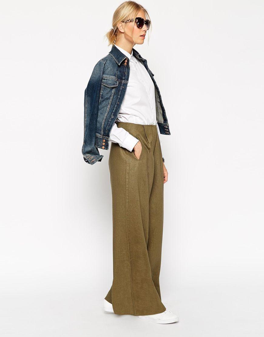 Image 4 , ASOS , Pantalon large en lin