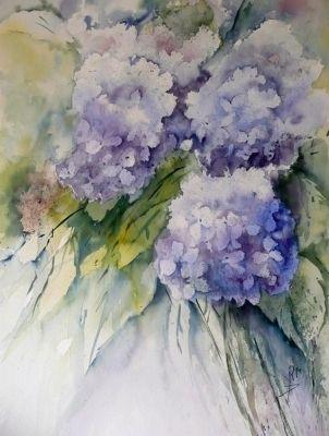 Aquarelle Peinture Impression Jardinage Fleurs Jardinier 5 X