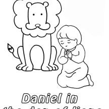 Daniel Prostrated in Front of God in Daniel and the Lions Den ...