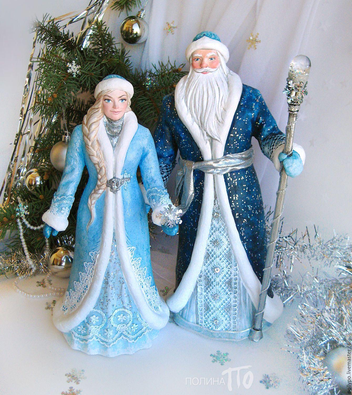 Дед Мороз и Снегурочка, куклы под елку (новый год ...