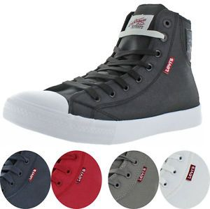 Levi's Jeans Hamilton Buck II Men's Hightop Canvas Sneakers Shoes