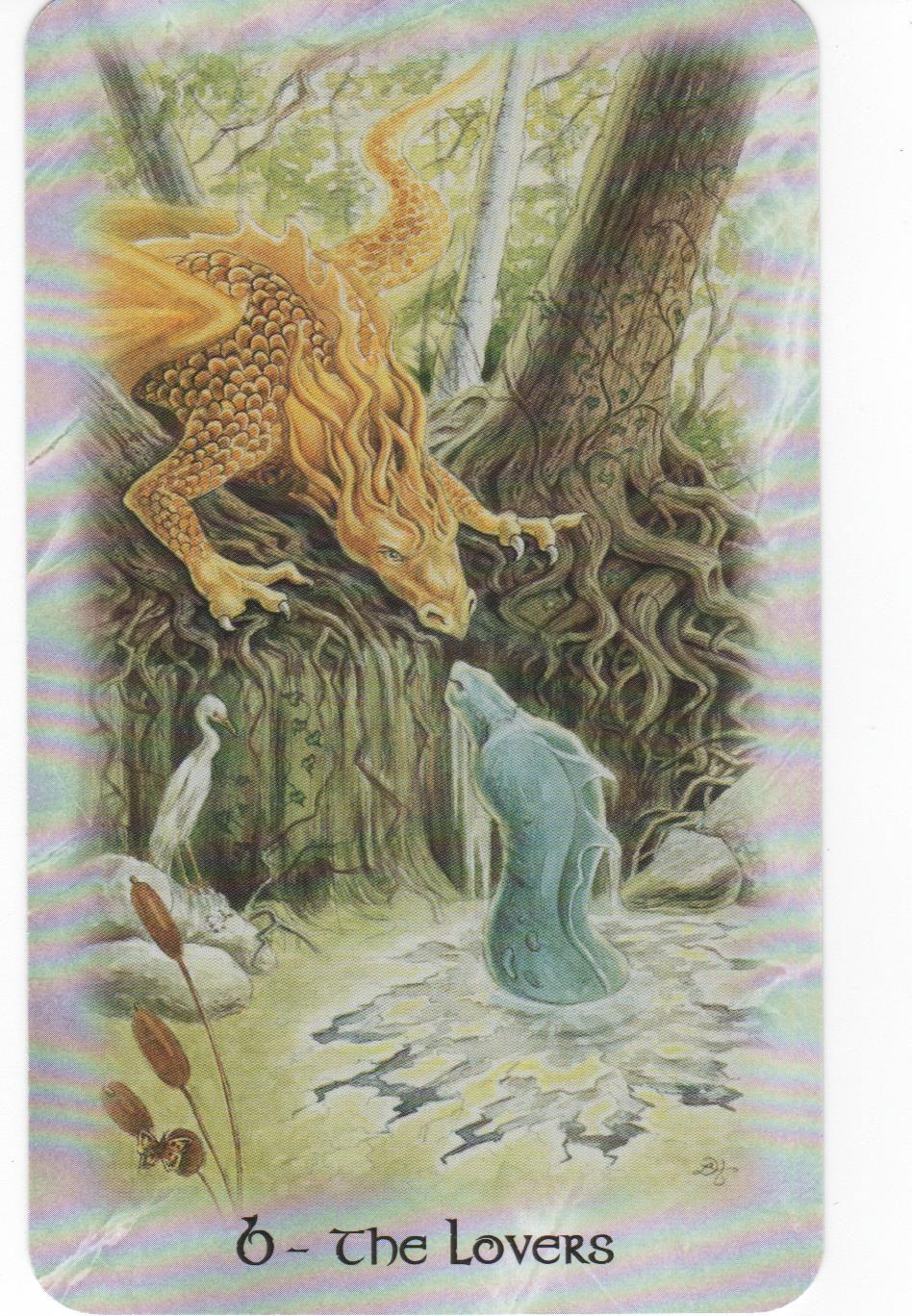 6 The Lovers - The Celtic Dragon Tarot