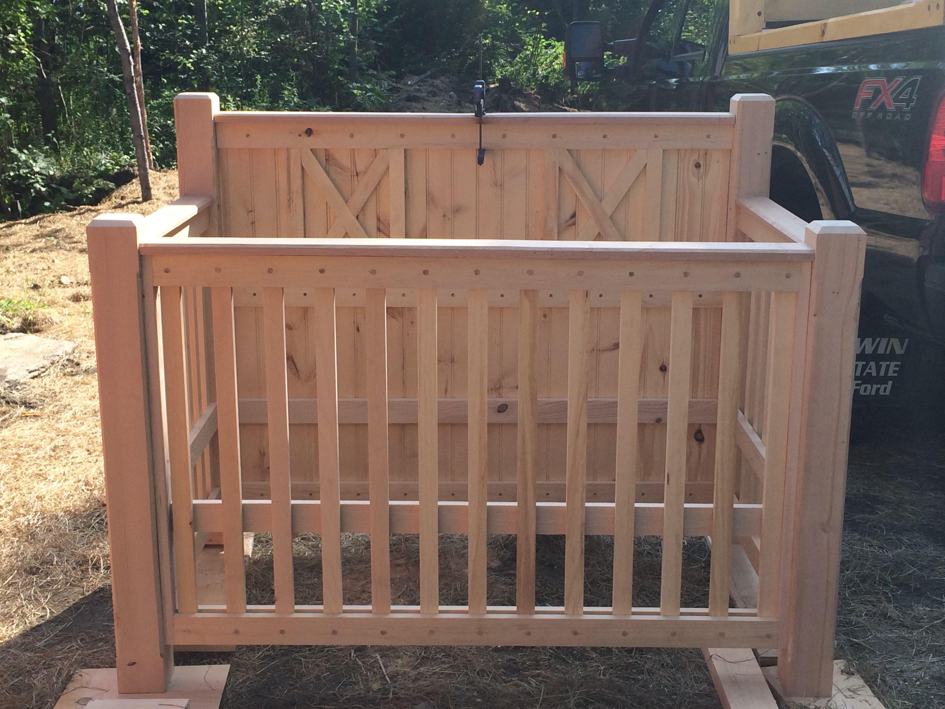 Custom Farmhouse / Rustic Baby Crib   Rustic baby cribs ...