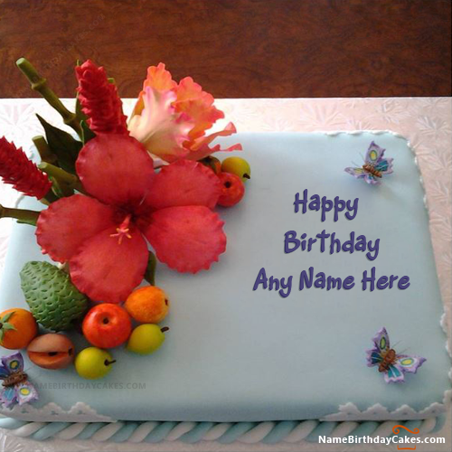Best Fruit Cake For Your Birthday With Name Happy Cakes Its