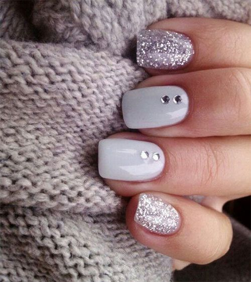 Winter Gel Nail Art Designs Nail Designs Glitter