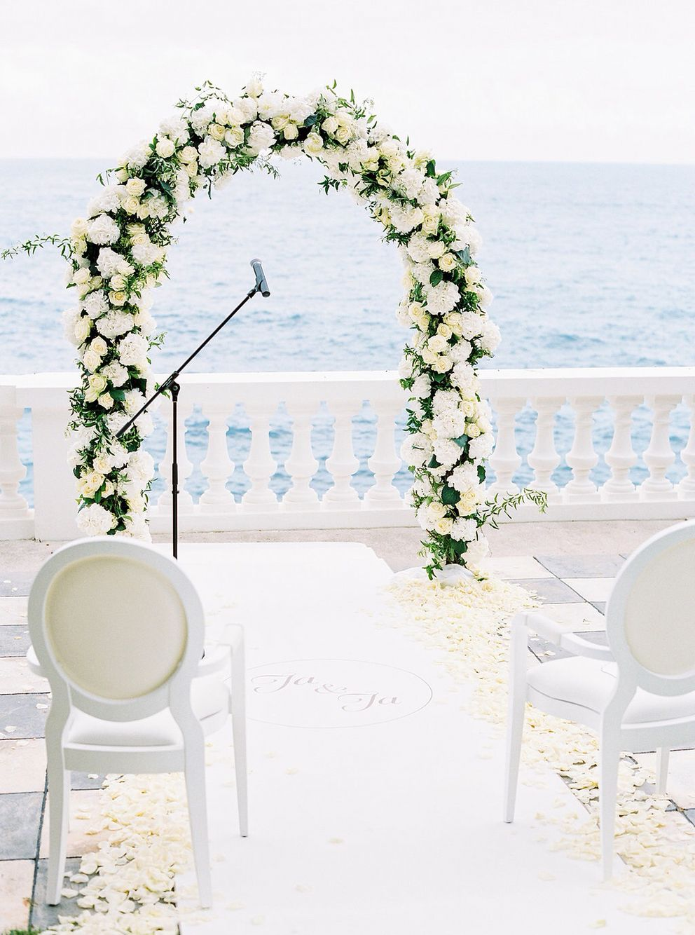 Wedding Ceremony In The Garden Of Cap Estel Design And Organization By Www Prime Moments