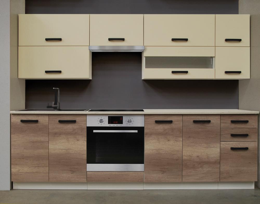 Kit Bucatarie Penelope 2 6 M Pal Melaminat Stejar 151266 Brico Depot Kitchen Cabinets Kitchen Home Decor