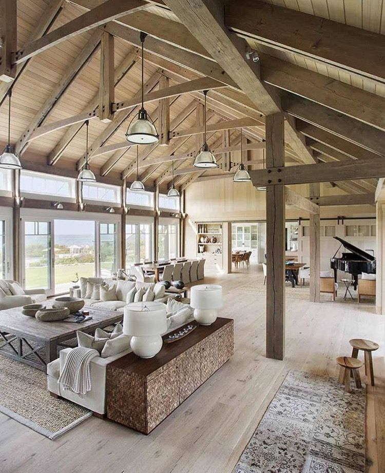 Open rafters create such a huge space..& I do like the