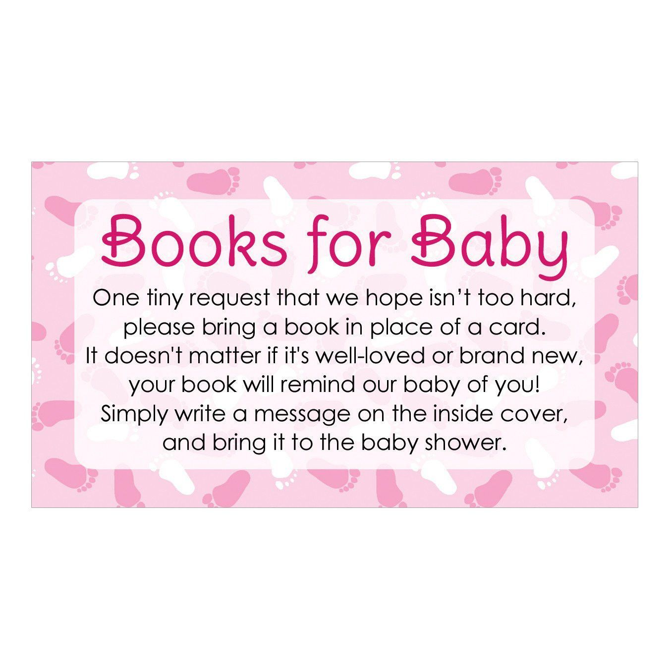 Girl Baby Shower Books For Baby Request Cards 20 Count In