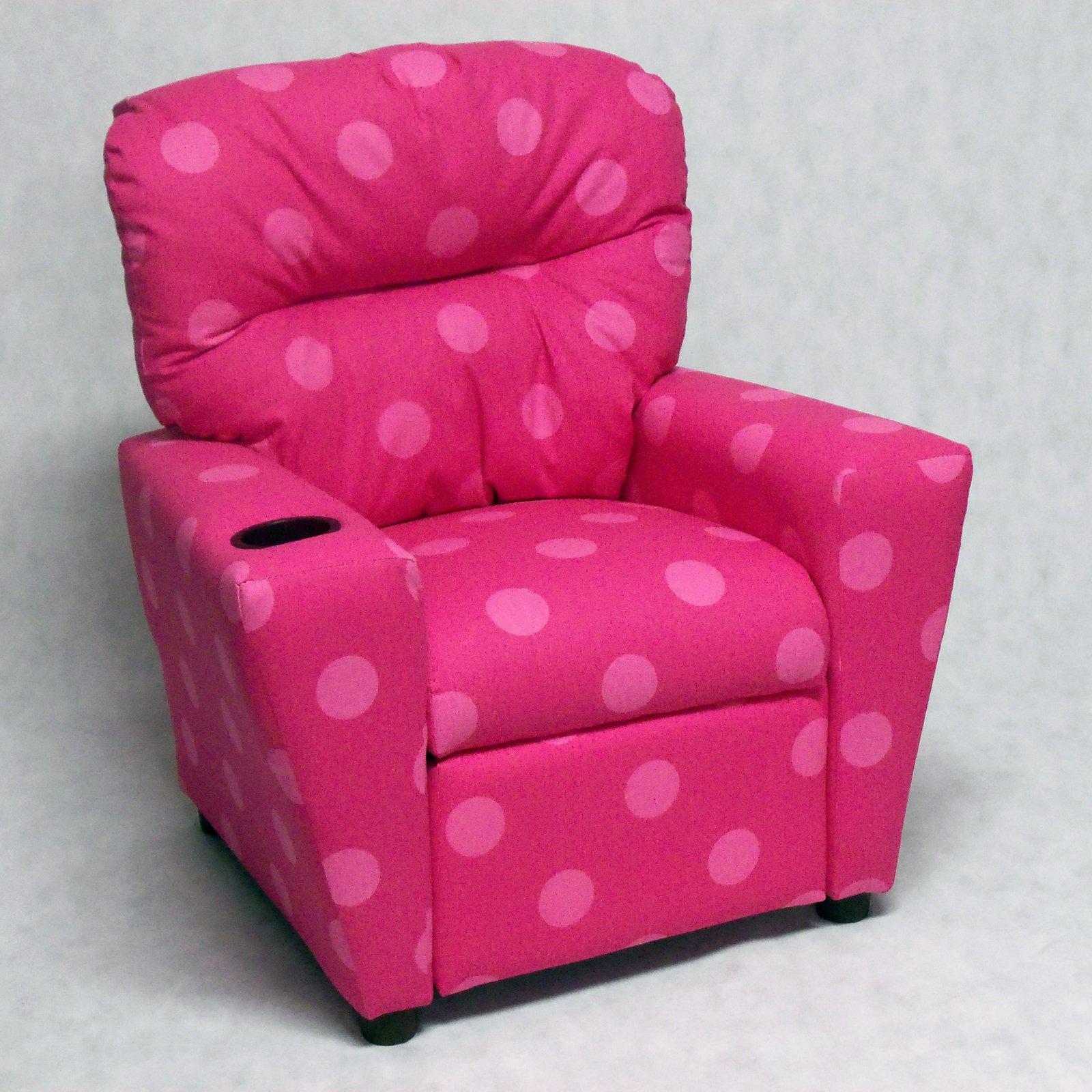 Brazil Furniture Cupholder Child Recliner Oxygen Pink