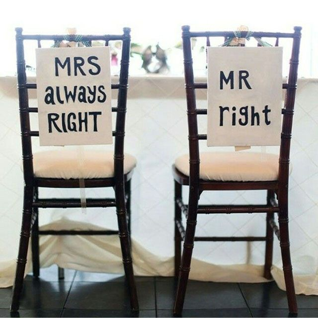 15 Cute And Unique Bride And Groom Seat Signs