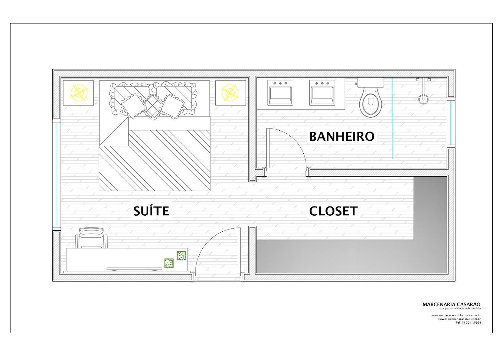 Profundidade Ideal Closet Pesquisa Google Casinha 3 Pinterest ~ Tamanho Ideal Quarto Casal Closet