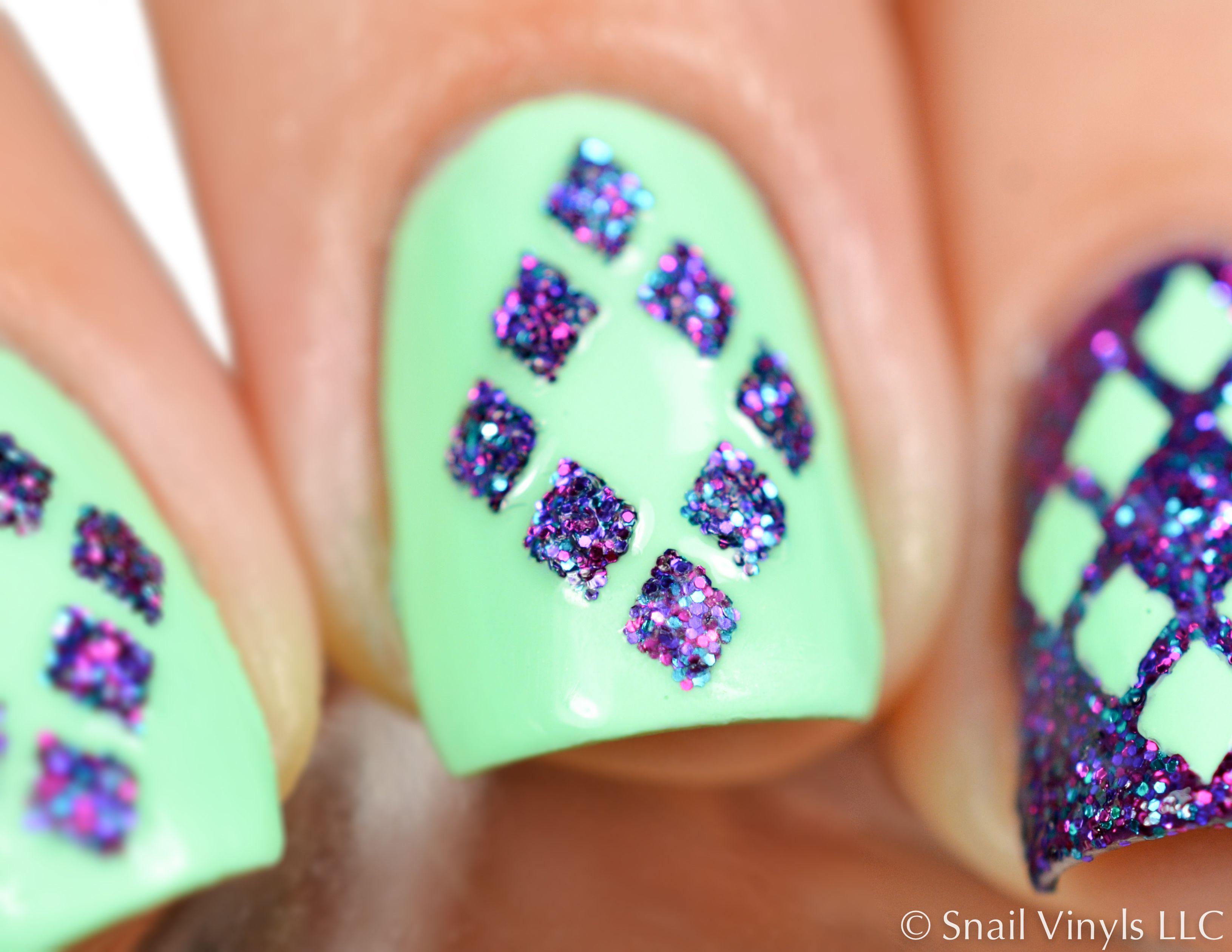Diamond Nail Stencils | Arte de uñas, Diseños de uñas y Uñas artísticas