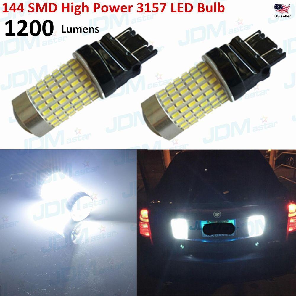 Jdm Astar 2x144 Smd 3157 3156 White 2400 Lm 12v Led Turn Signal Brake Light Bulb Jdmastar Led Light Bulb Led Replacement Bulbs Bulb