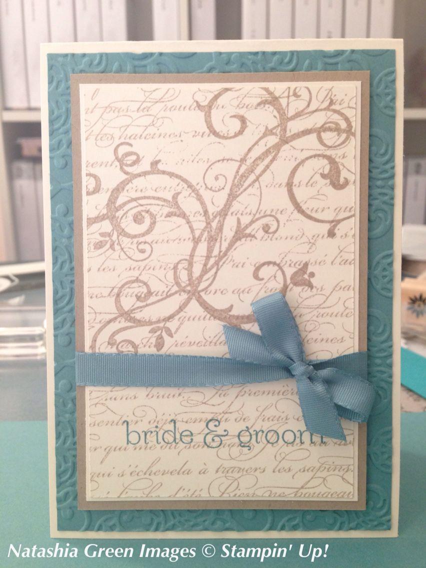 Wedding card En Francais Baroque Motifs Stampin' Up!