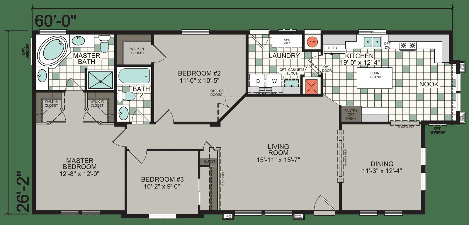 Craftsman Wc12 Silvercrest Champion Homes Floor Plans House Floor Plans Manufactured Homes Floor Plans