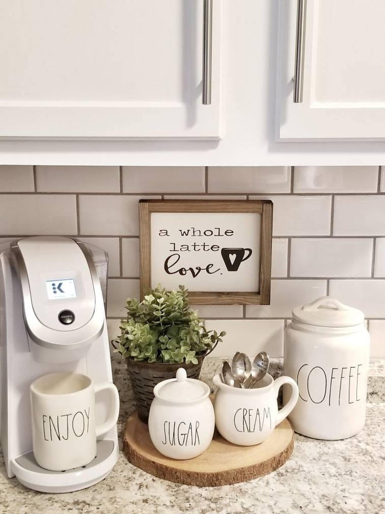 A whole latte love  Made To Order. Coffee Sign. Coffee Bar | Etsy