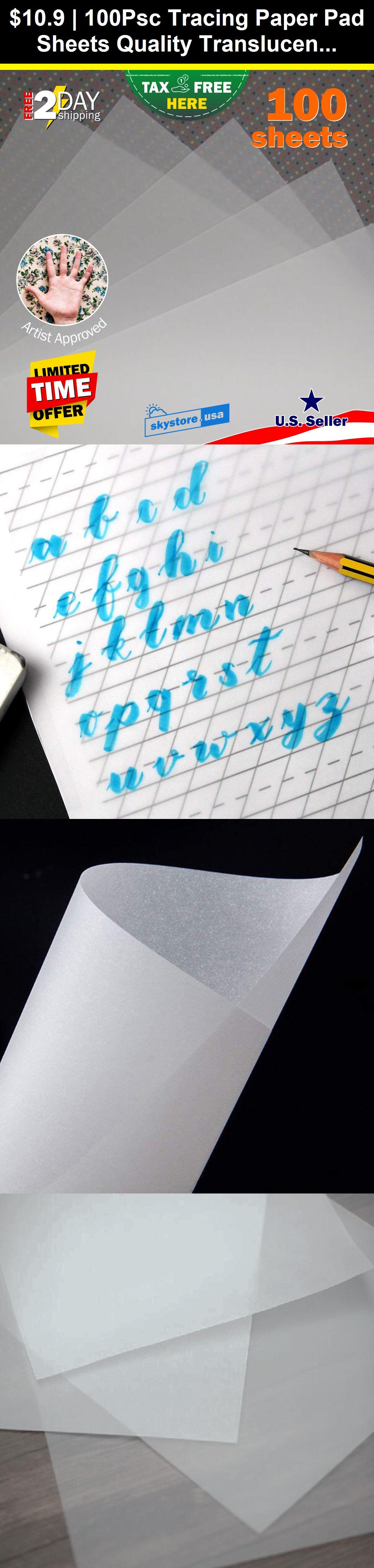 100psc tracing paper pad sheets quality translucent medium
