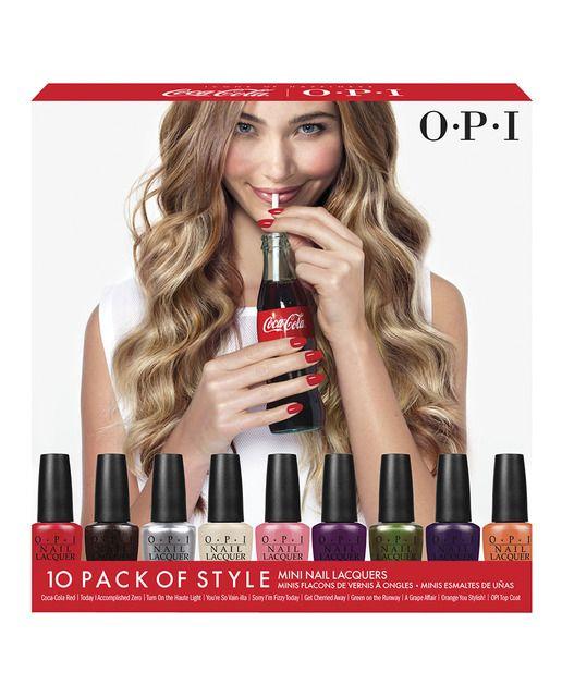 Pack de 9 Mini Esmaltes de uñas Coca-Cola OPI | Beauty | Pinterest ...