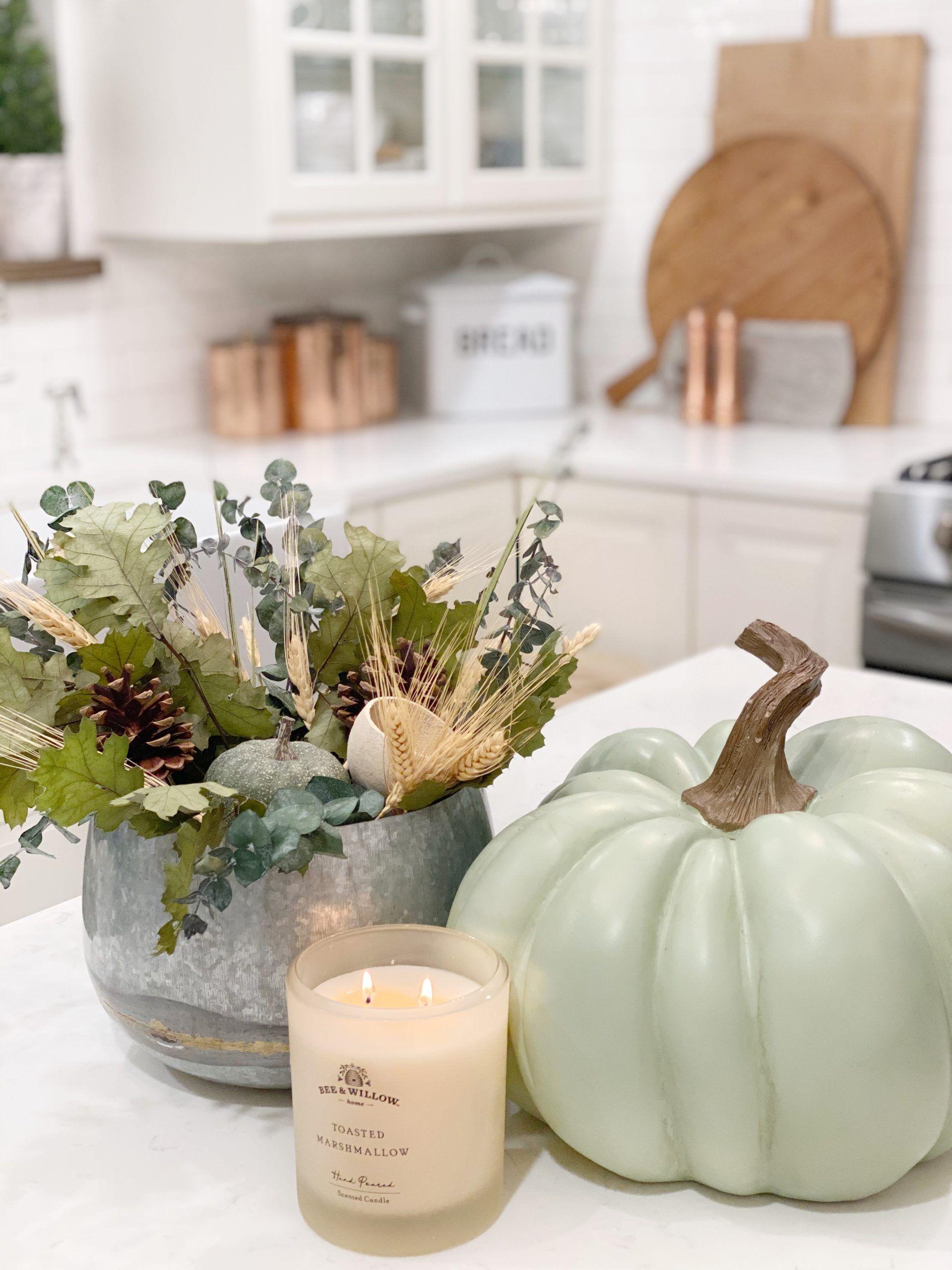 Simple Fall Touches In The Kitchen Fall Decor Fall Kitchen Decor Blogger Decor