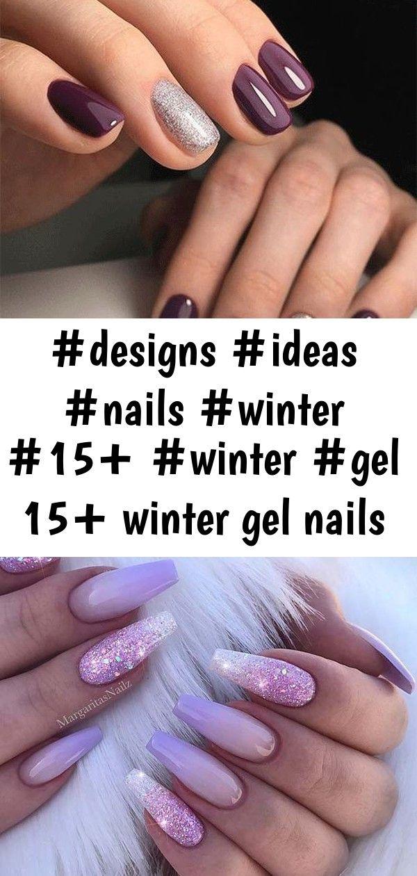15 winter gel nails art designs  ideas 2019 5 15 Winter Gel Nails Art Designs  Ideas 2019 Über 20 elegante Nail Art Designs für echte Ladies  Nageldesign  Naila...