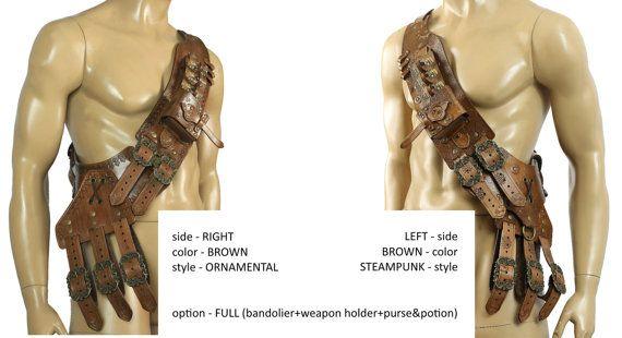 Leather Bandolier Unisex By Muarta On Etsy