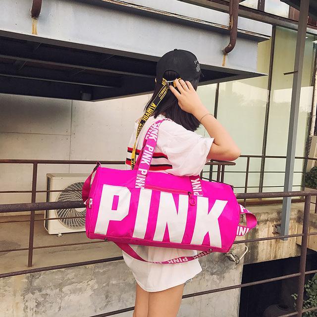JXSLTCvs Happy pink girl travel duffel bag women Travel Business Handbags  Victoria beach shoulder bag large b941021e4d